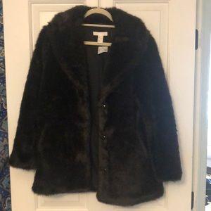 H&M fake fur coat.
